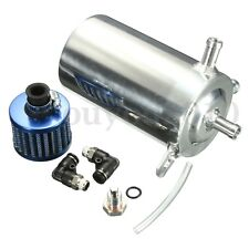 Universal Aluminum Alloy 0.5L Oil Catch Tank CAN With Breather Air Filter Round