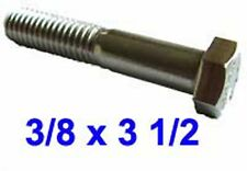 3/8 x 3 1/2 Stainless UNC Hex Head BOLTS 3/8-16 x 3 1/2 UNC Hex BOLT (9/16AF) x2