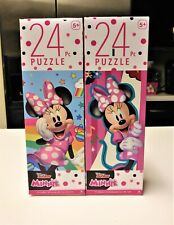 Minnie Mouse 24 Piece Jigsaw Puzzles set of 2 New