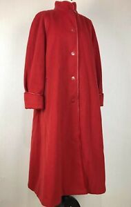 BACCARAT Red Coat Jacket 12 Wool Classic 70s 80s A Line Princess Swagger VTG