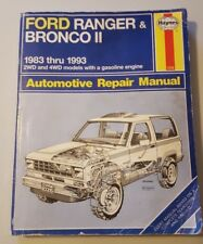 Haynes Ford Ranger & Bronco II Repair Manual for 83-93 Gas 2WD and 4WD models