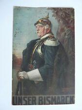 "German WW1 Patriotic Postcard ""Our Bismarck"" Red Cross fund Raising Postcard"