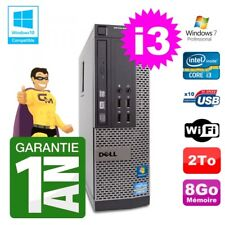 PC Dell 790 SFF Intel I3-2120 RAM 8Go Disque 2To DVD Wifi W7