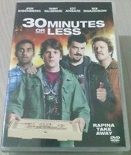 30 MINUTES OR LESS (2011) FILM DVD OTTIMO ITALIANO SPED GRATIS SU + ACQUISTI!!!
