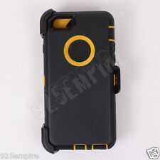 For iPhone 6 Black/Yellow Case (Clip fits Otterbox Defender)