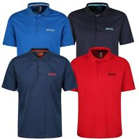Regatta Maverick IV Mens Quick Dry Polo Shirt Navy Red and Blue