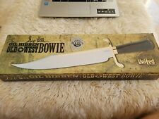 GIL HIBBEN OLD WEST BOWIE KNIFE DAMASCUS Limited Edition gold plate