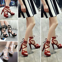 New Fashion Women's Ankle Strap Open Toe Stiletto High Heel Pump Sandal Shoes