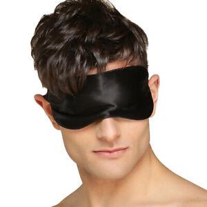 Unisex 100% Silk Blindfold Sleeping Double Sides Cover Eyeshade Adjustable Band
