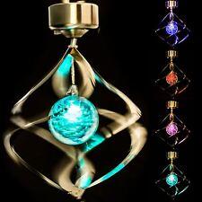 Colore alimentazio solare modifica Vento Spirale Spinner LED Luce Giardino Lampada All'aperto