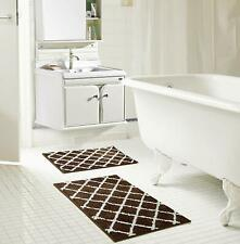 Chester Jacquard 2-Piece Microfiber Bath Set in Chocolate