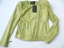 NWT ROBERTO CAVALLI~Women's Green Leather Jacket~Size 40