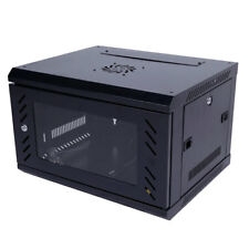 6U Wall Mount Network Server Data Cabinet with Lock and Glass Door