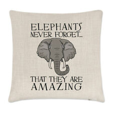 Elephants Never Forget That They Are Amazing Linen Cushion Cover Pillow - Funny