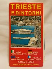 1982 Vintage Trieste E Dintorni Trieste Italy and Surrounding Areas Map