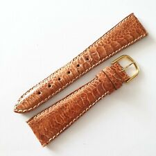 GENUINE  ROTARY 20MM TAN BROWN CROCODILE STYLE LEATHER WATCH STRAP