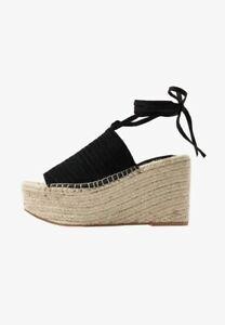 Topshop Ladies Summer Beach Sale ☀️Platform Sandals In Natural / Black 6 RRP £49