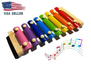Kids Baby Musical Toys Xylophone Learn Game Wooden Instrument Education Play