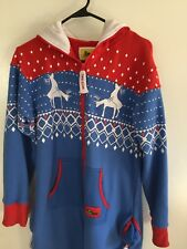 Tipsy Elves Bodysuit - Men's Small - Reindeer Climax - Ugly Christmas Sweater