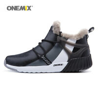 Men Outdoor Snow Boot Fashion Warm Keep Shoes ONEMIX Casual Athletic Sneakers