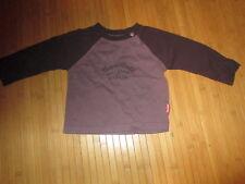 Tee-shirt marron/prune,ML,Taille 12Mois,marque Bout'chou,en TBE