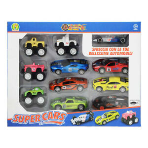 Modellini auto per bambini Mazzeo Giocattoli 11 macchinine colorate super car