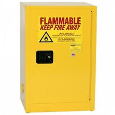 12 Gallon Yellow, One Door, Self-Close Eagle Flammable Liquid Safety Cabinet