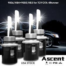 Combo LED Headlight Kit 9005+9006 Bulbs For Toyota 4Runner 2005-2003 Hi/Low Beam