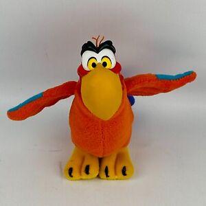 "Applause Aladdin Iago 6"" Plush Red Parrot Vinyl Head Disney"