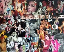Collage rétro vintage sur chassis entoilé 100x800 cm - T'as de beau yeux tu sais