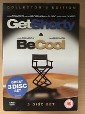 John Travolta GET SHORTY / BE COOL Elmore Leonard Crime Comedy Double UK DVD Set