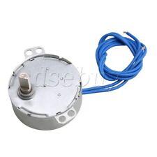 AC 110V Electric Fan Gear Synchronous Motor 8-10RPM One Side Flat Shaft DIY