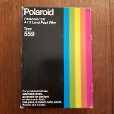 NOS Polaroid 559 4x5 inch 8 Photos Color Instant Film PACK Expired Vintage