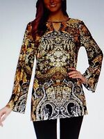 Attitudes by Renee Women Printed Tunic Top L large 14 16 New NWT