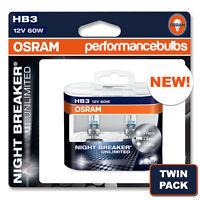 HB3 (9005) OSRAM NIGHT BREAKER BULBS RENAULT CLIO II 98-05 HIGH BEAM HEADLIGHT
