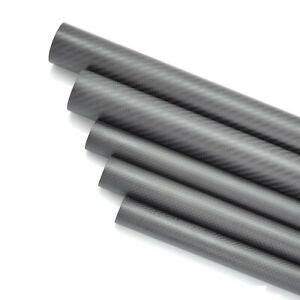 3K Carbon Fiber Tube 5mm 6mm 7mm 8 9mm 10mm x 1000mm Bearing Rod Kite Wrapped-H
