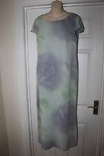 Ladies Pastel Green/ Grey Libra Dress Size 14 Wedding Christening