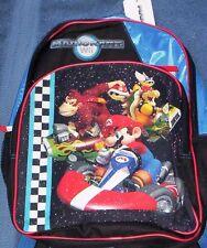 MARIO Kart Wii Full Size Backpack NeW +1 FOLDER Book Bag Donkey Kong Bowser NWT