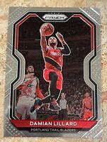 Damian Lillard 2020-21 Panini Prizm Base Card #173 Portland Trail Blazers