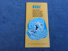 More details for boac first class service on board leaflet circa 1963 rare