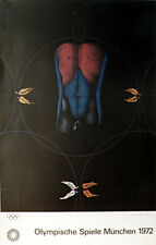 Original Paul WUNDERLICH lithograph poster: 'Male Nude' - 1972 Pop Art vintage
