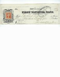 U.S. BANK CHECK  DENVER COLORADO  FIRST NATIONAL BANK  1866 EARLY DENVER   EF