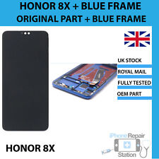 GENUINE Huawei Honor 8X Replacement LCD Screen Digitiser & BLUE FRAME OEM