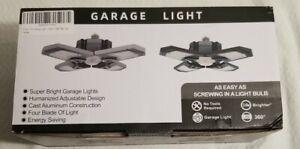 2 Pack 120W LED Garage Light Super Bright Shop Ceiling Lights Deformable Bulb US
