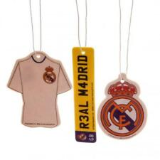 REAL MADRID FC 3 PACK AIR FRESHENER FRESHNER CAR ACCESSORY OFFICE ROOM XMAS GIFT