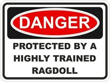 Cat Breed RAGDOLL Danger Sticker Pet for Bumper Locker Car Door