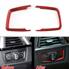 2x ABS Headlight Head Light Cover Trim Red For 3 Series F30 316i 320i 328i 13-15