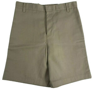 K12 Gear Girls School Uniform Shorts NWT 2446GR Khaki/Gray/Navy Var. Sizes UNI14