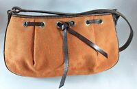 Dooney & Bourke Orange Canvas Signature Tassel Top Zip Small Purse - C01