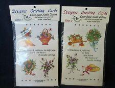 Basic Needle Tatting Vintage Designer Greeting Cards Series 1&2 Handy Hands New